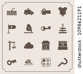modern  simple vector icon set... | Shutterstock .eps vector #1098621191