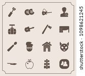modern  simple vector icon set... | Shutterstock .eps vector #1098621245