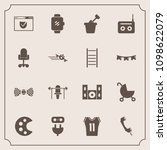modern  simple vector icon set... | Shutterstock .eps vector #1098622079