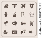 modern  simple vector icon set... | Shutterstock .eps vector #1098622121