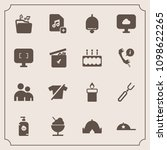 modern  simple vector icon set... | Shutterstock .eps vector #1098622265