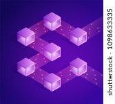 blockchain isometric... | Shutterstock .eps vector #1098633335