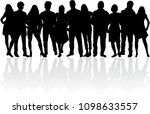 group of people. crowd of... | Shutterstock .eps vector #1098633557