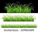 green grass. vector illustration | Shutterstock .eps vector #109863689