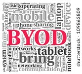 byod   bring your own device...   Shutterstock . vector #109863809