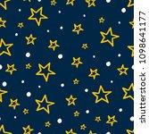 kids stars seamless background... | Shutterstock .eps vector #1098641177
