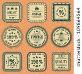 vector collection of labels on...   Shutterstock .eps vector #109864364