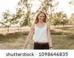 young  attractive and happy...   Shutterstock . vector #1098646835