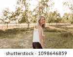 young  attractive and happy...   Shutterstock . vector #1098646859