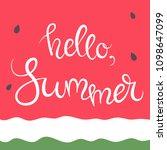 vector illustration  a greeting ... | Shutterstock .eps vector #1098647099