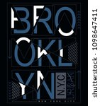 brooklyn typography for t shirt ... | Shutterstock .eps vector #1098647411