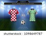 football cup 2018 group d ... | Shutterstock .eps vector #1098649787