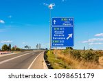 directional signs to madrid ... | Shutterstock . vector #1098651179