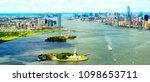 manhattan skyline aerial view ... | Shutterstock . vector #1098653711