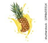 pineapple 3d vector with...   Shutterstock .eps vector #1098655514