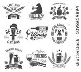 set of craft beer and winery... | Shutterstock .eps vector #1098659894