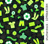 sports seamless pattern with... | Shutterstock .eps vector #1098665084