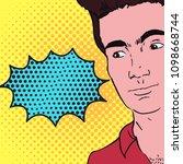 comic speech bubble  pop art   Shutterstock .eps vector #1098668744
