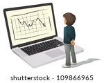 illustration of man and laptop... | Shutterstock . vector #109866965