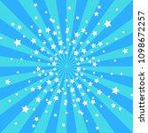 cartoon retro blue and dark... | Shutterstock .eps vector #1098672257