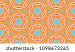 vector patchwork quilt pattern. ... | Shutterstock .eps vector #1098673265