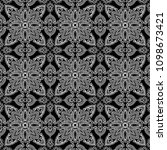 abstract pattern black and whit ... | Shutterstock .eps vector #1098673421