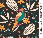 cute seamless pattern with... | Shutterstock .eps vector #1098677051