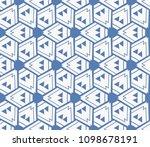 decorative seamless geometric... | Shutterstock .eps vector #1098678191