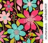 seamless vector pattern with a... | Shutterstock .eps vector #1098680909