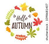 vector cartoon style fall...   Shutterstock .eps vector #1098681407
