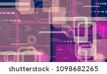 tech background. colorful... | Shutterstock .eps vector #1098682265