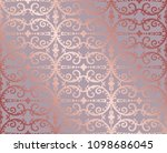 seamless rose gold floral and... | Shutterstock .eps vector #1098686045