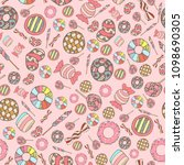 colorful and cute hand drawn... | Shutterstock .eps vector #1098690305