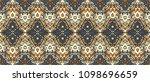 ikat seamless pattern. vector... | Shutterstock .eps vector #1098696659