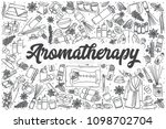 hand drawn aromatherapy doodle... | Shutterstock .eps vector #1098702704