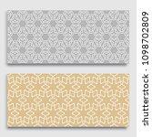 seamless horizontal borders... | Shutterstock .eps vector #1098702809