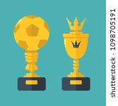 vector set icon gold cups  ... | Shutterstock .eps vector #1098705191