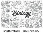 Hand Drawn Biology Doodle Set....