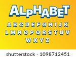 vector of 3d stylized font and... | Shutterstock .eps vector #1098712451