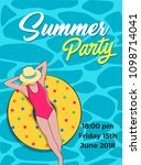 summer party template poster... | Shutterstock .eps vector #1098714041