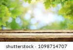 wooden table background | Shutterstock . vector #1098714707