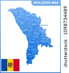 the detailed map of the moldova ... | Shutterstock .eps vector #1098734489