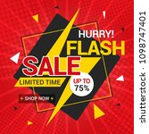 flash sale banner template... | Shutterstock .eps vector #1098747401