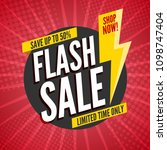 flash sale banner template... | Shutterstock .eps vector #1098747404