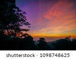 sunrise or sunset over the...   Shutterstock . vector #1098748625