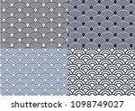oriental wave pattern   Shutterstock .eps vector #1098749027