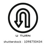 u turn icon | Shutterstock .eps vector #1098750434