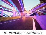 the purple blue led landscape...   Shutterstock . vector #1098753824