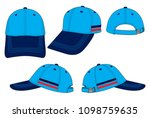 baseball cap design vector ... | Shutterstock .eps vector #1098759635