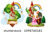 beautiful fairy tale castle...   Shutterstock .eps vector #1098760181